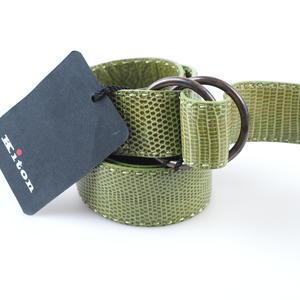 KITON Gürtel Eidechse Lizard / 925 Stirlingsilver