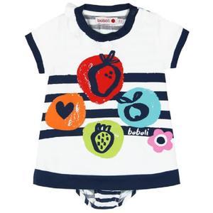 Kleid gestrickt kombiniert für baby mädchen