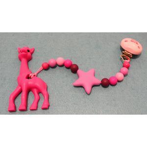 Beisskette mit Stern und Giraffe