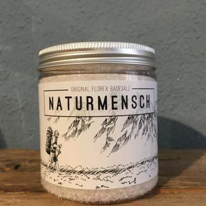 """Badesalz 300g in der Dose """"Naturmensch"""", Schneerose"""