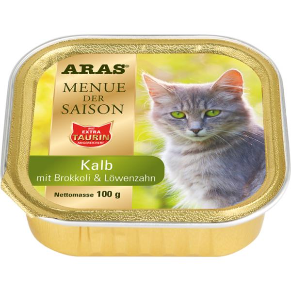 ARAS Menü der Saison für Katzen - Kalb, Brokkoli & Löwenzahn 100g