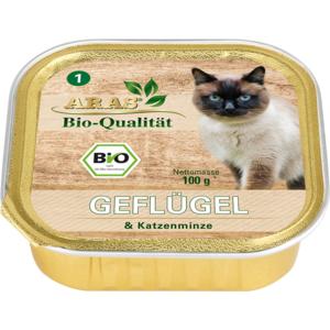 ARAS BIO Qualität - Geflügel & Katzenminze 100g Schale