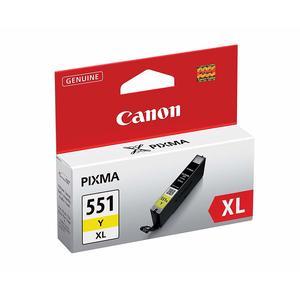 Canon CLI-551XL Y original Tintenpatrone XL Yellow für Pixma Inkjet Drucker MX725-MX925-MG5450-MG5550-MG5650-MG6350-MG6450-MG6650-MG7150-MG7550-iP7250-iP8750-iX6850