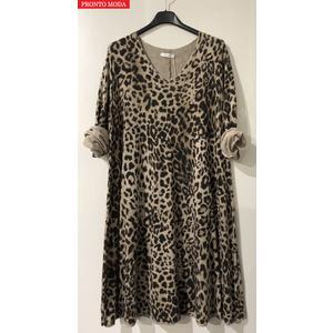 Damen NEW Tunika mit Leopardenmuster PRONTO MODA