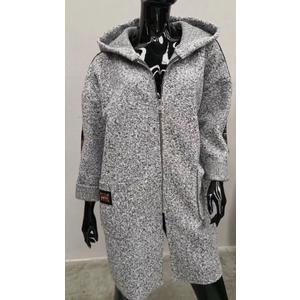 Damen Long-Mantel mit Kapuze PRONTO MODA