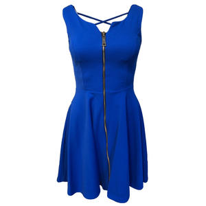 Damen knielanges Kleid, Rückenfrei PRONTO MODA - Variante