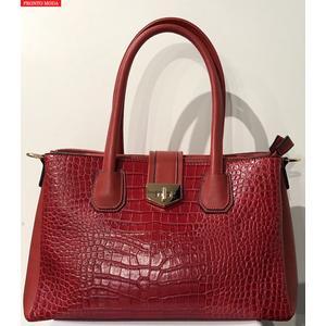 Damen Handtasche mit abnehmbarem Schulterband - Rot PRONTO MODA