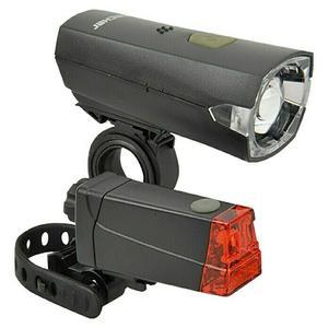 Fischer Batterie-Leuchten-Set LED, 12 Lux (Frontlicht)