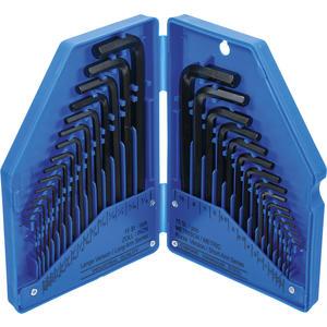 Winkelschlüssel-Satz Zollmaße/metrisch Innensechskant 30-tlg.
