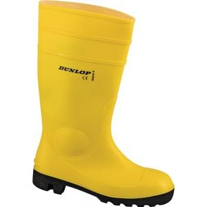Dunlop Protomastor Sicherheitsstiefel Größe 45 gelb/schwarz PVC S5 SRA EN ISO 20345