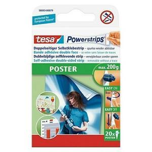 Tesa Powerstrips Selbstklebestrip Poster, 20 Stk.