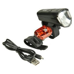 Fischer Fahrradbeleuchtungs-Set 30 Lux, Leuchtmittel: LED