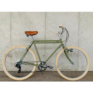 Glanzrad Retrorad Doppelrohr Olive