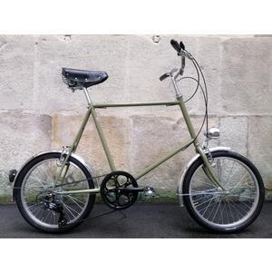 Glanzrad Retrorad Mod LSG2 Minibike Olive - gemuffter Stahlrahmen, Gabel und Glanzrad Sattel handmade in Italy - Assembling in Austria - Variante