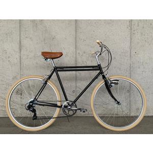 Glanzrad Retrorad Doppelrohr Schwarz