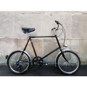 Glanzrad Retrorad Mod LSG2 Minibike Schwarz - gemuffter Stahlrahmen, Gabel und Glanzrad Sattel handmade in Italy - Assembling in Austria
