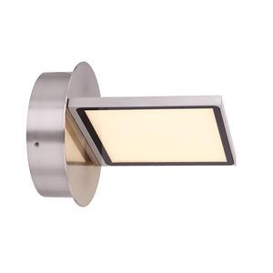 Globo Lighting WANDLEUCHTE METALL NICKEL MATT, 1XLED - Wandleuchte - Metall nickel matt - Kunststoff opal
