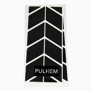 Pulhem reflektierendes Reflex-Aufkleber Set24 aus Reflexfolie schwarz