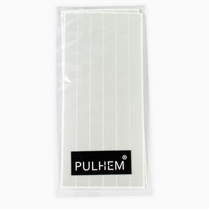 Pulhem reflektierende Reflex-Aufkleber 12 Stk. 15 cm x 10 mm aus Reflexfolie weiß