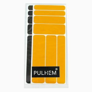 Pulhem reflektierendes Reflex-Aufkleber Set14 aus Reflexfolie schwarz und gelb