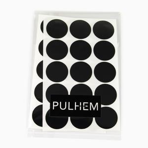 Pulhem reflektierende Reflex-Aufkleber 30 Stk. Kreise 20mm Durchmesser aus Reflexfolie schwarz