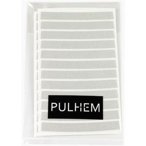 Pulhem reflektierende Reflex-Aufkleber 7mm weiß