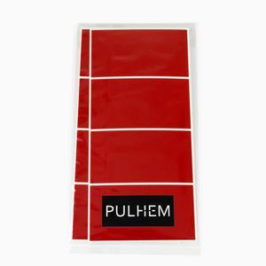 Pulhem reflektierende Reflex-Aufkleber 8 Stk. 65 mm x 35 mm aus Reflexfolie rot