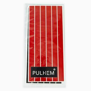 Pulhem reflektierende Reflex-Aufkleber 12 Stk. 15 cm x 10 mm aus Reflexfolie rot und schwarz