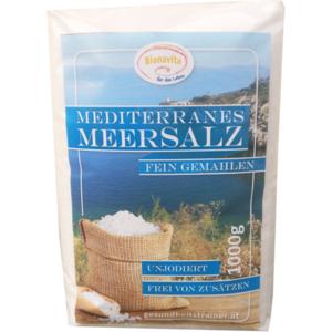 3 x Mediterranes Meer Salz fein 1000g