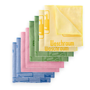 Loweé 8er Set Mikrofasertücher mit Schriftzug - 40x40cm ultraweiche Haushaltstücher für Haushalt, Hospital und Küche - Kopie