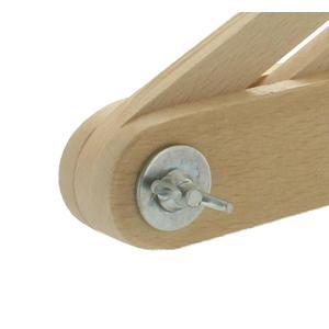 Buchenholzschmiege 60 cm - mit Langloch in der Zunge