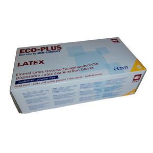 ECO-PLUS Latex Einweghandschuhe puderfrei 100 Stück (Größe S)