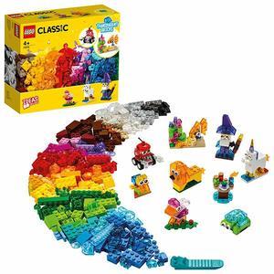 LEGO Classic Bausteine - Transparente Steine Set