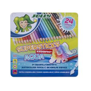 JOLLY Supersticks Kinderfest AQUA, 24er-Met.Etui