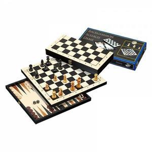 Reise-Schach-Backgammon-Dame-Set