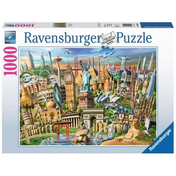 Puzzle Sehenswürdigkeiten weltweit 1000 Teile