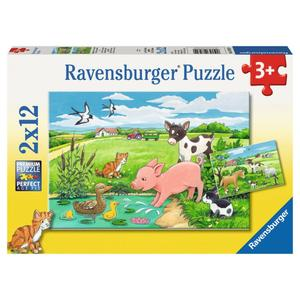 Puzzle 2x12T Tierkinder a