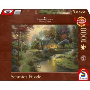 Puzzle 1000T Friedliche Abendstimmung - Thomas Kinkade