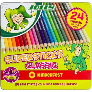 JOLLY Superstick kinderf. CLASSIC sort., 24er Metall