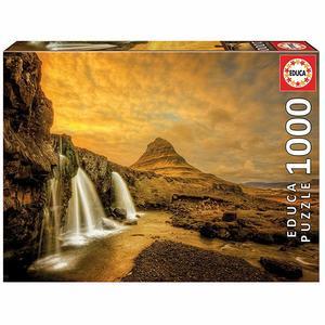 Puzzle Kirkjufellsfoss Waterfall 1000 Teile