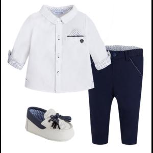 Taufoutfit (Hemd, Hose, Schuhe) Blau