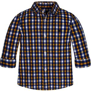 """MAYORAL Langarm-Hemd """"gelb-blau kariert"""""""