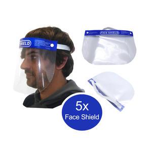 5x Schutzvisier Gesichtsschutz Gesichtsmaske Schutzschild Face Shield Anti Fog