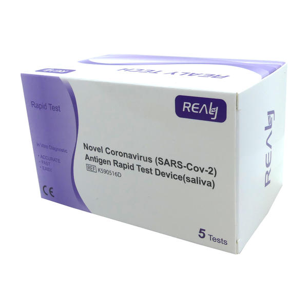5x Realy Tech Novel Corona Spucktest Antigen Schnelltest COVID-19