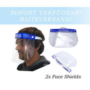 2x Schutzvisier Gesichtsschutz Gesichtsmaske Schutzschild Face Shield Anti Fog