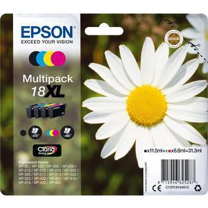 4 Original Epson 18 XL Tinte Patronen XP102 XP202 XP205 XP212 XP215 XP302 XP305