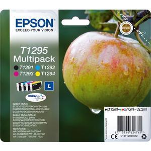 4x Original Epson Tinte Patrone T1295 WF3540-DTWF WF3010DW WF3520DWF WF3530 SET