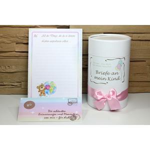 Briefe an mein Kind, Mädchen, Babygeschenk, Geschenk zur Geburt, Babytagebuch