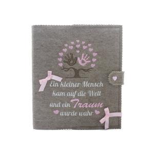 Babytagebuch, Babyalbum DIN A5, Lebensbaum und schönem Spruch