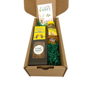 Ostergeschenkkarton Honig für kleinen Schleckermäulchen von Bio-Imkerei Blütenstaub
